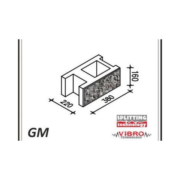 """Ogrodzenie Łupane Gorc GL22 - Element murka GM """"mały"""""""