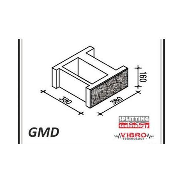 """Element murka GMD """"duży"""" - Ogrodzenie Łupane Gorc GL38"""
