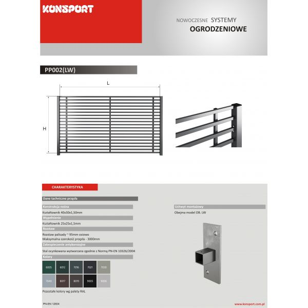 New Design PP 002 (LW) - palisadowe