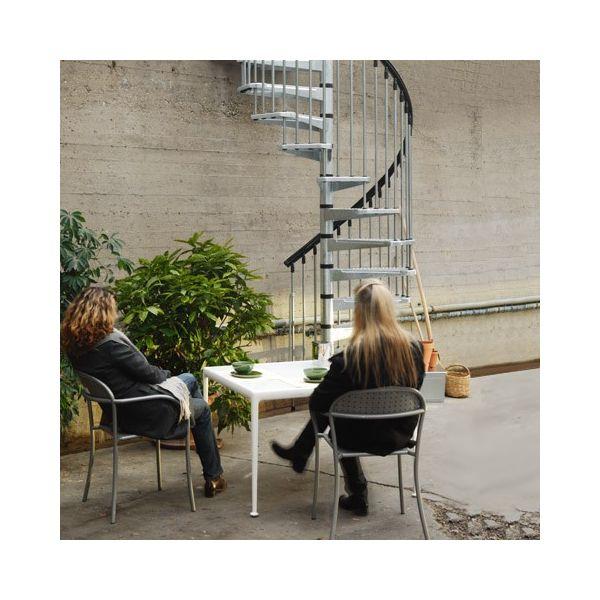 Schody systemowe CIVIK ZINK- schody zewnętrzne / średnica 120cm