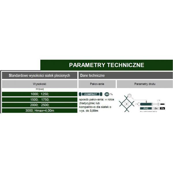 Siatka Pleciona PANDEMIT - ocynkowana 1m2