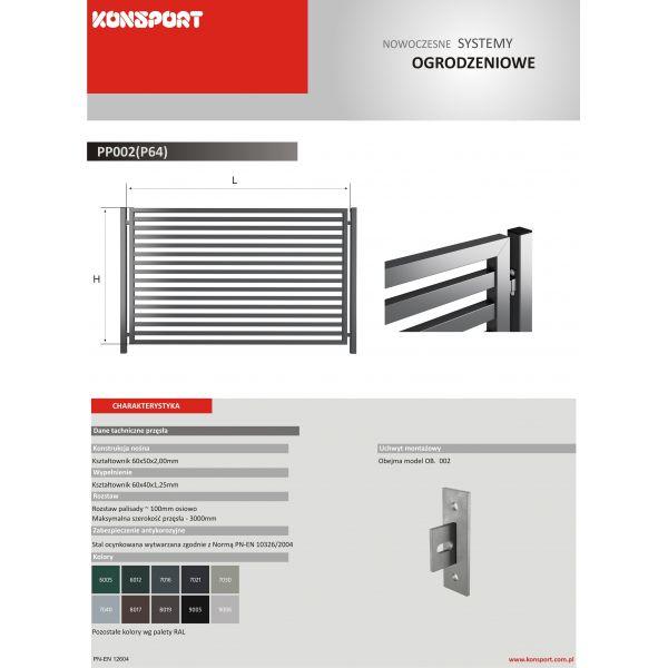 New Design PP 002 (P64) - palisadowe