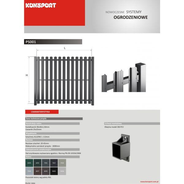 New Design PS 001 - sztachetowe standard