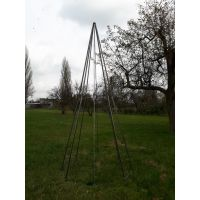 Choinka modern 3,8 metra, konstrukcja 3D - efekt corten.